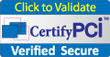 Click to Validate. Certify PCI Verified Secure.